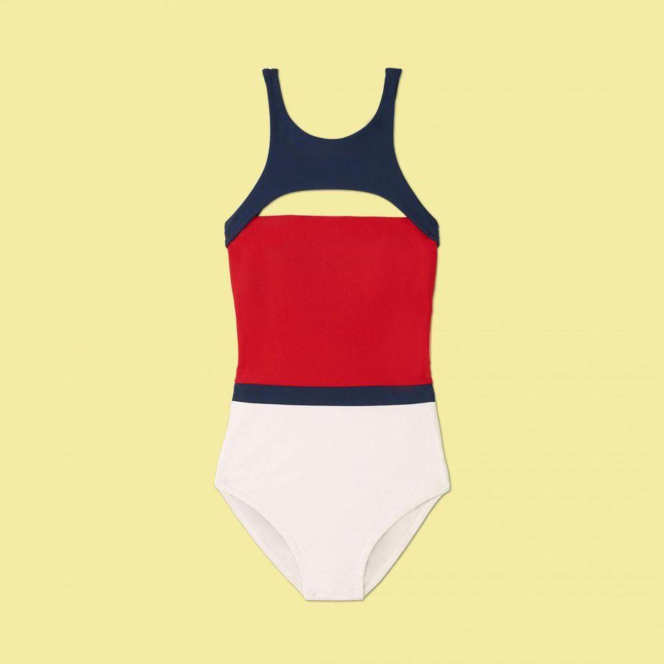 image library stock Bikini transparent hi cut. The swimsuit style that