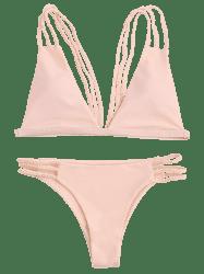 vector library Bikini transparent low cut. Bikinis pink s padded