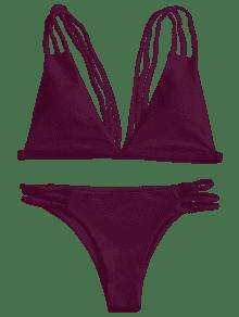 svg free stock Strappy bralette burgundy bikinis. Bikini transparent low cut