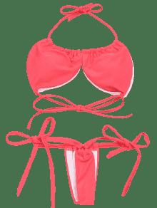 clip art library  tied halter set. Bikini transparent micro