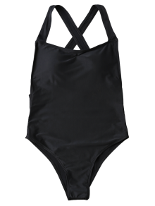 graphic black and white stock Bikini transparent open back.  high cut one