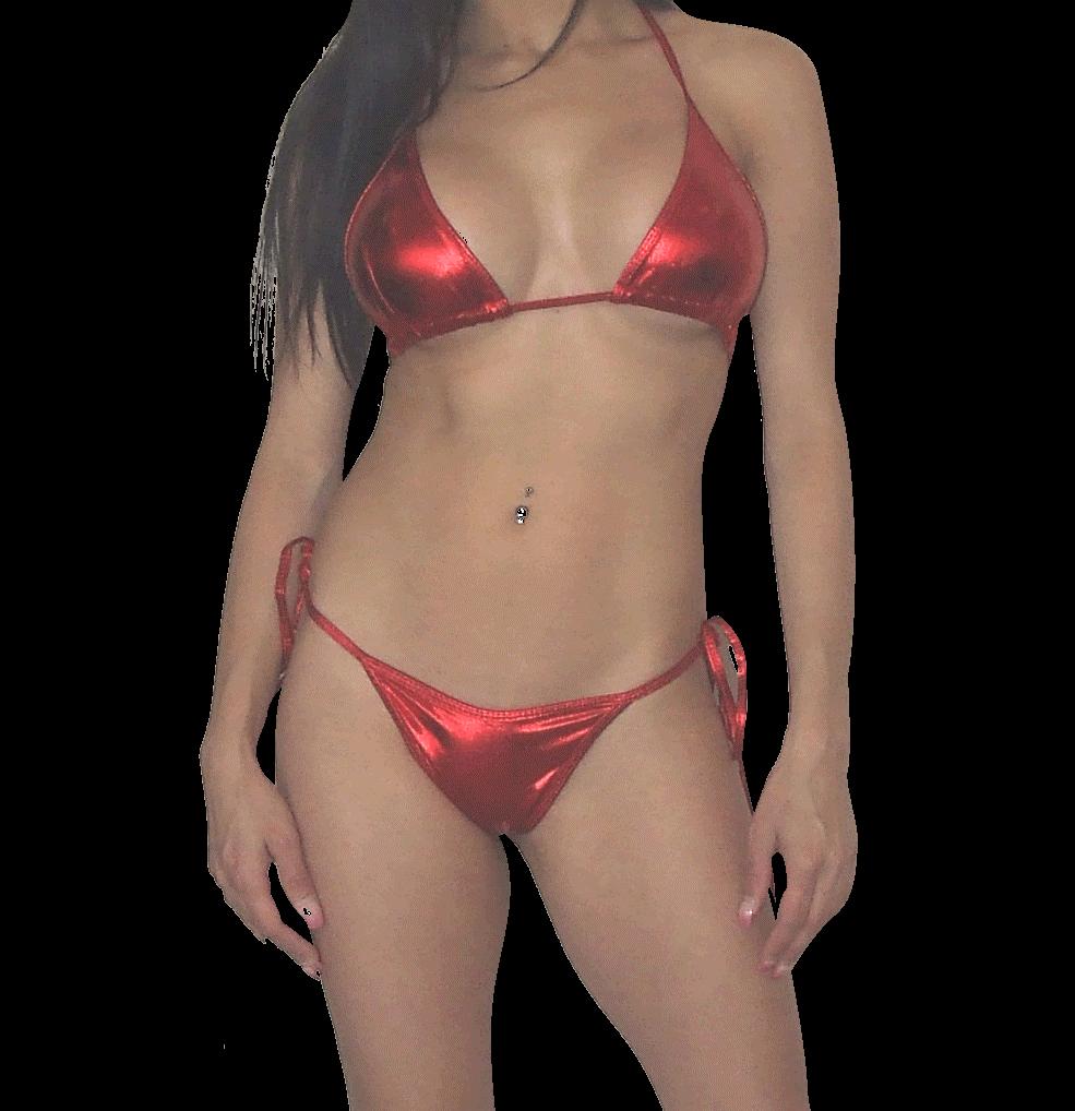 jpg free download Bikini transparent red. Metallic g string stripper
