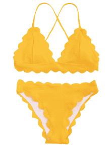 picture freeuse stock Hot scalloped set in. Bikini transparent yellow