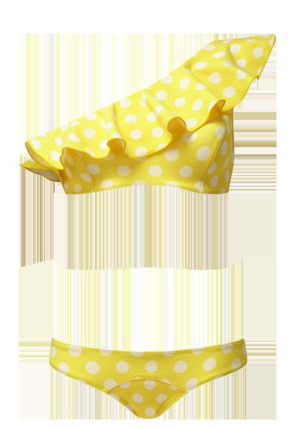 transparent download Bikini transparent yellow. Arden polka dot crepe
