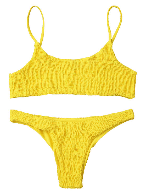 svg free library Smocked top and bottoms. Bikini transparent yellow