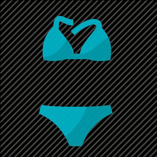 clip black and white stock Fashion store color by. Bikini vector beach towel