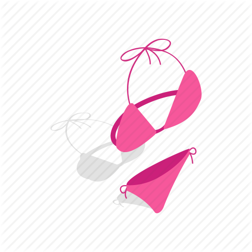 png royalty free Isometric by ivan ryabokon. Bikini vector beach towel