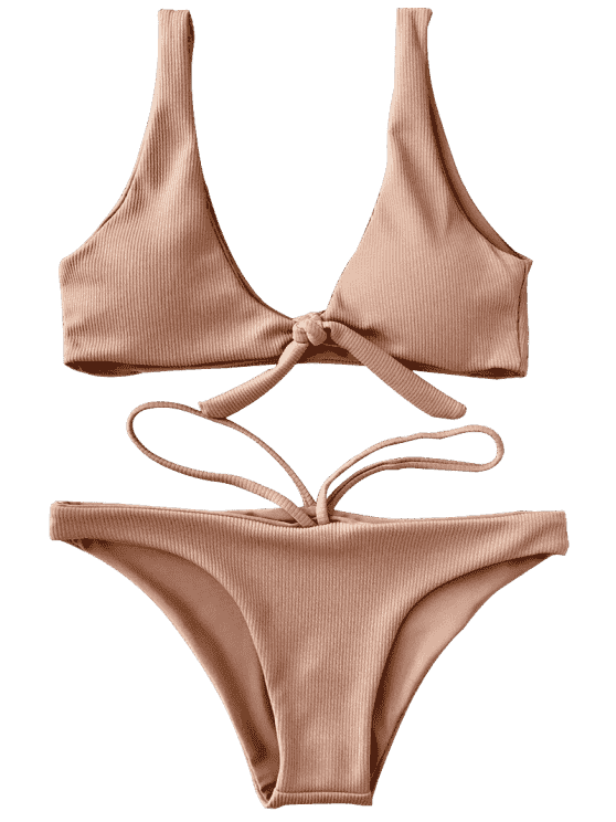 image freeuse Bikini vector essential. Knotted textured scoop set