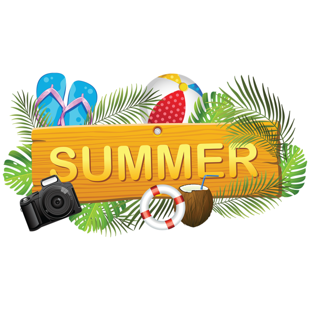 clipart royalty free library Creative board with elements. Bikini vector summer element