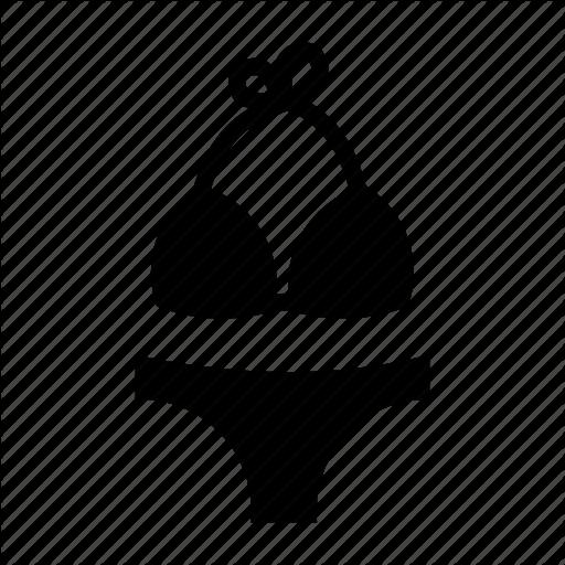 jpg free Summer travel glyph by. Bikini vector top