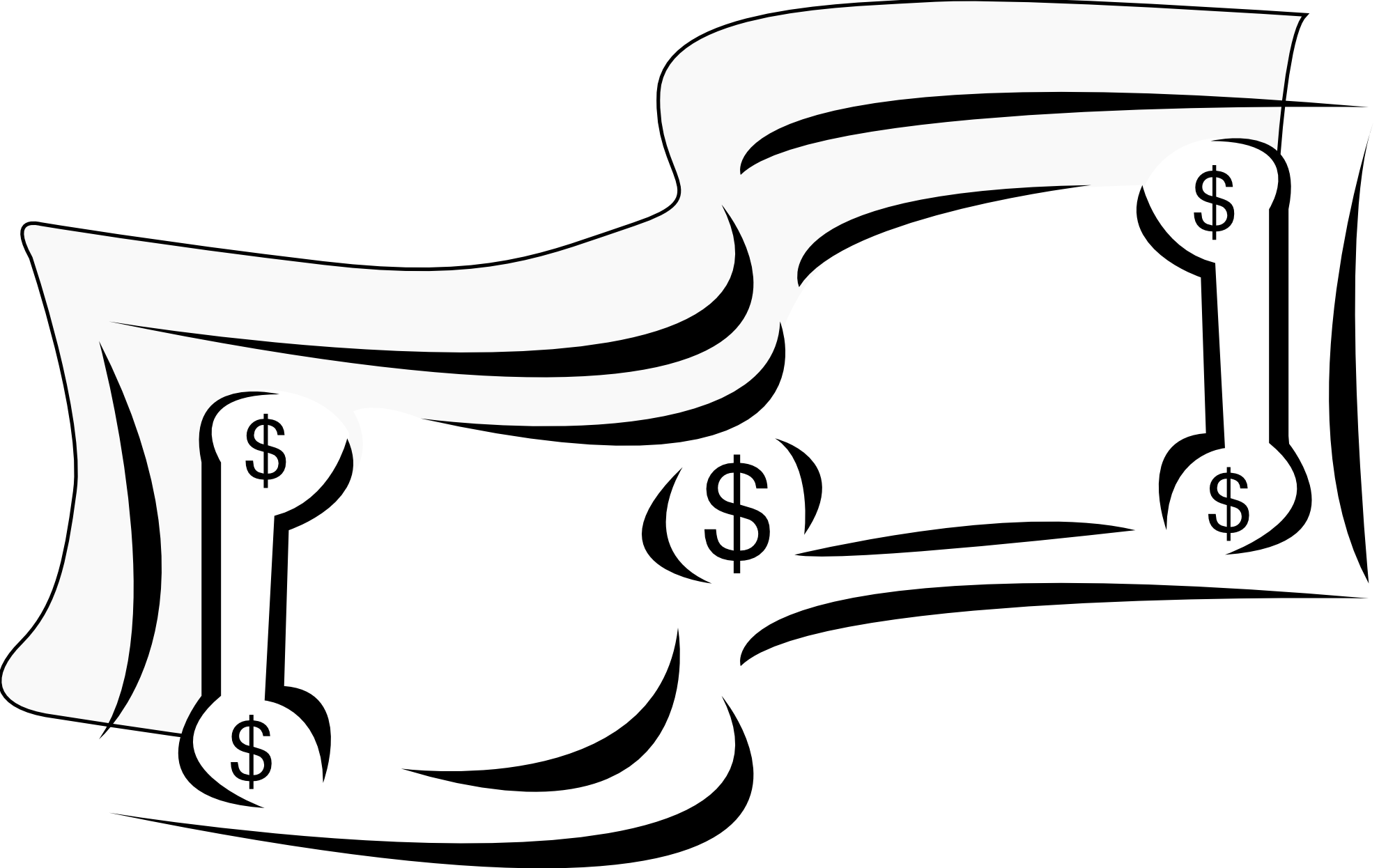 picture transparent stock Bill clipart. Dollar bills sign black.