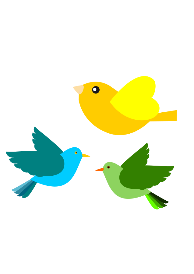 clipart royalty free library Birds In Flight Silhouette at GetDrawings