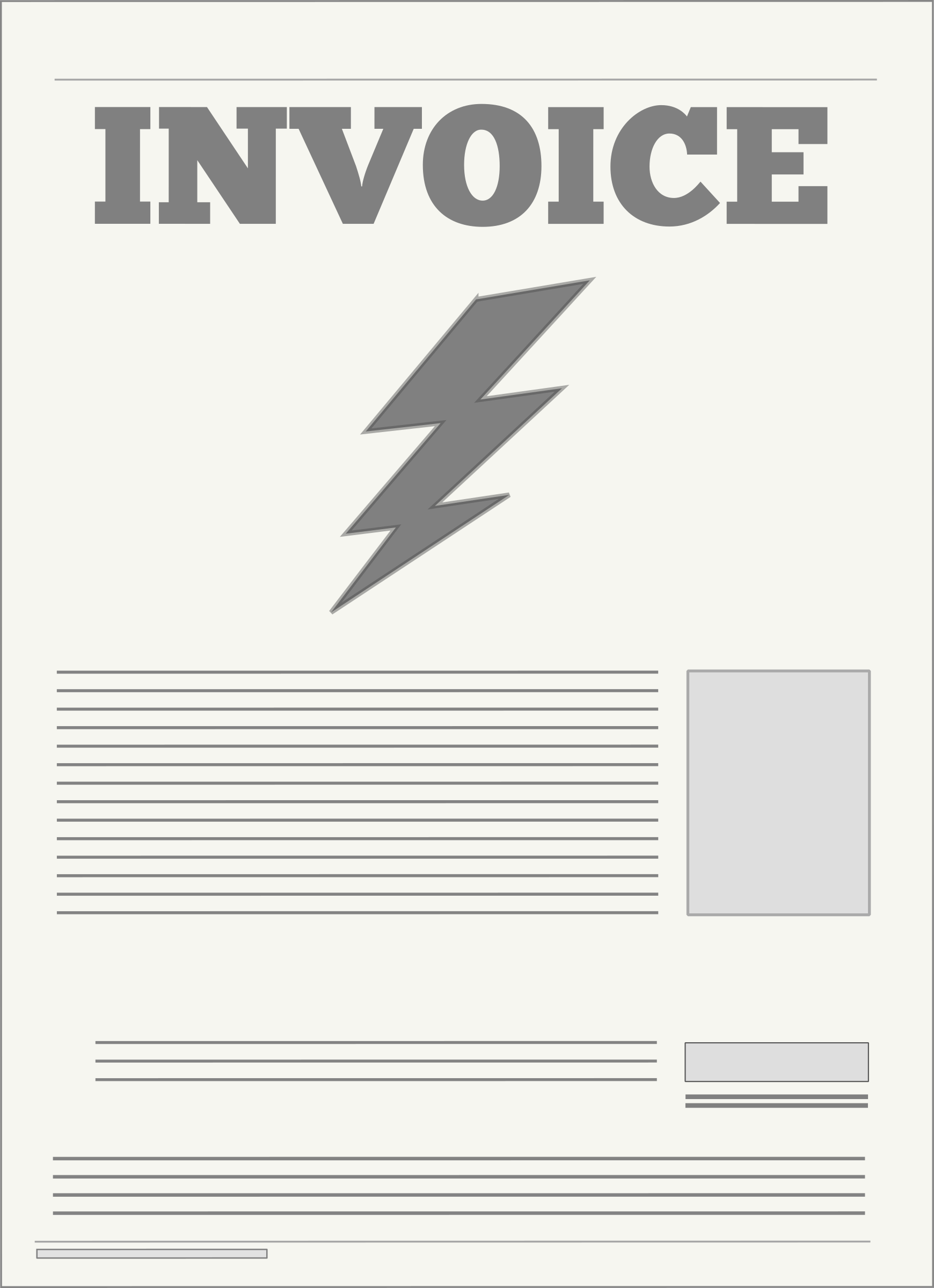 vector freeuse stock Bill clipart utility bill. Electricity .