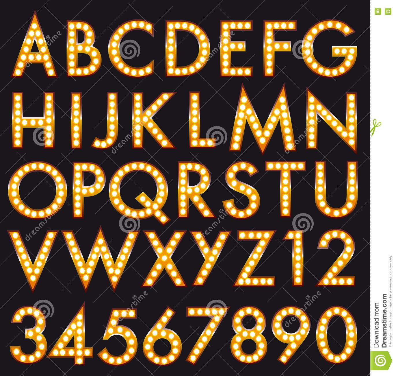 clipart library Billboard vector broadway. Marquee alphabet font letters
