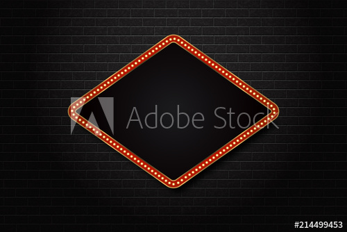 clip freeuse Billboard vector broadway. Realistic isolated retro rectangle