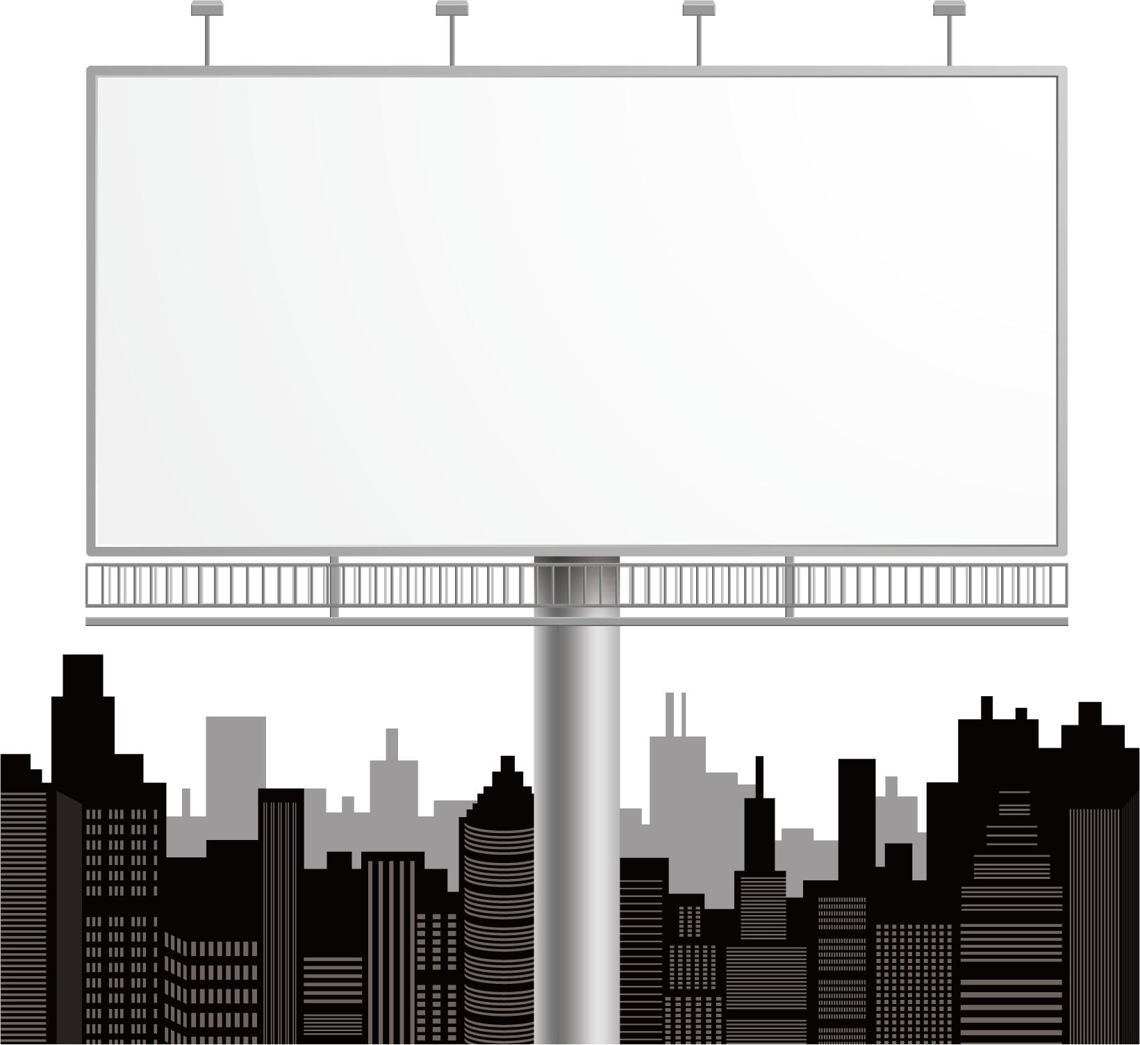 vector Billboard vector building. Advertising download outdoor transprent