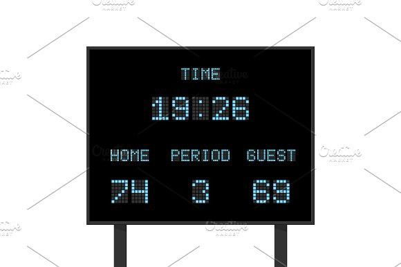 clip art library stock Billboard vector digital. Electronic board with football