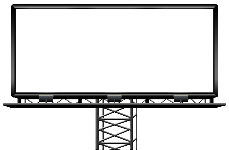 vector black and white download Billboard vector led.  black png for