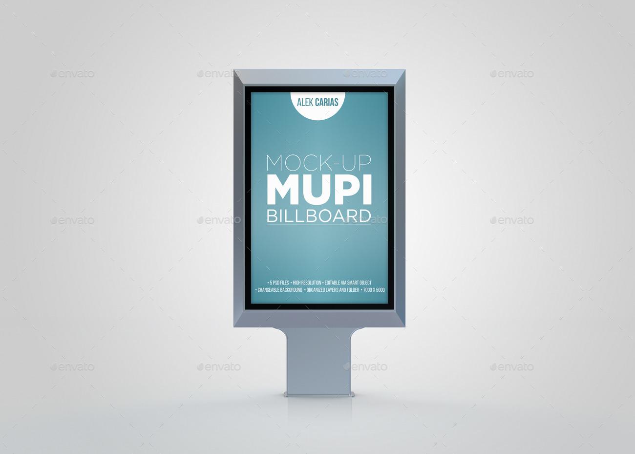 svg freeuse Mock up . Billboard vector mupi