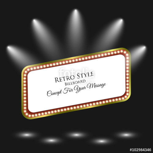 banner black and white download Billboard vector retro. Light frame background with