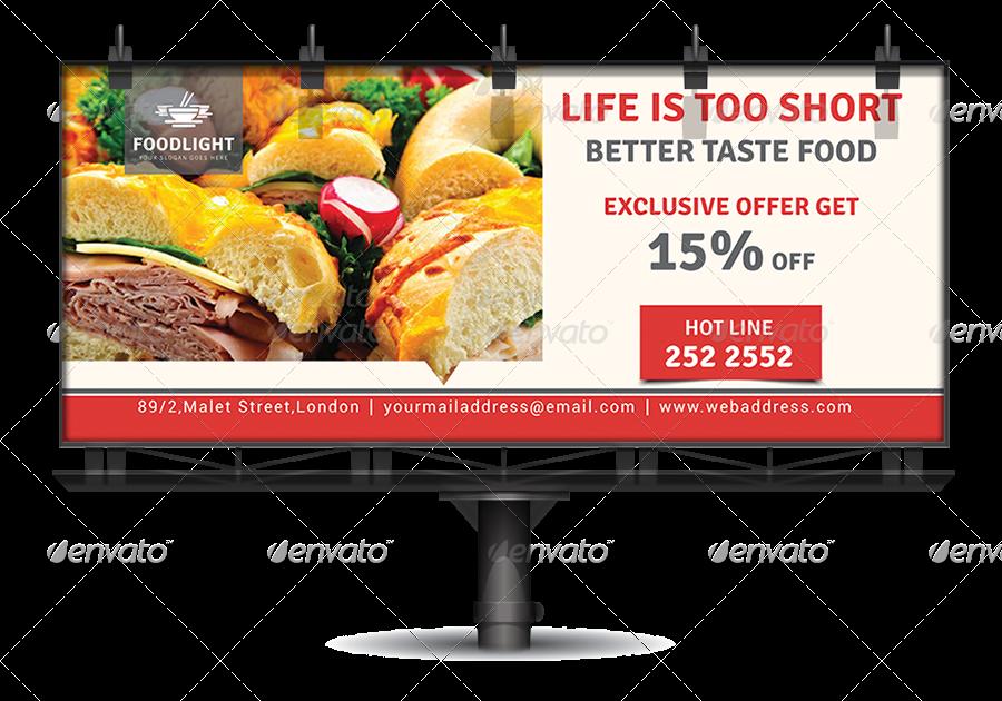black and white stock Billboard vector simple. Restaurant business bundle volume