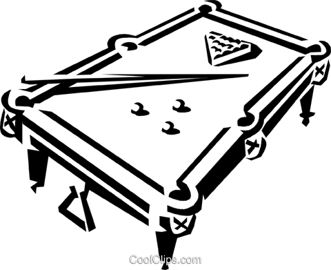 picture freeuse library Pool table drawing at. Billiards clipart billiard room.