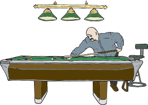 graphic royalty free stock Table with player clip. Billiards clipart pool game.