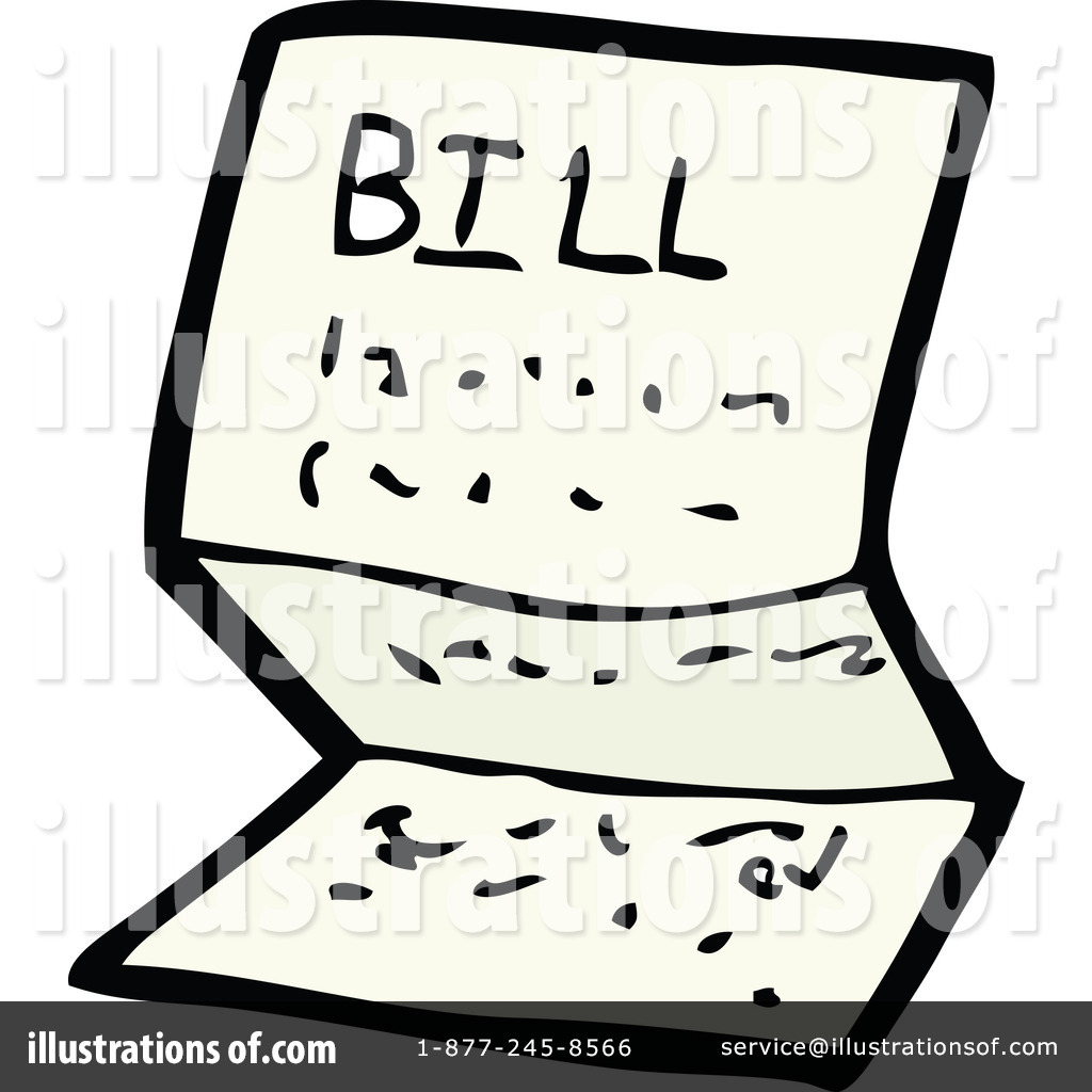 free library Bills clipart. Illustration by lineartestpilot .
