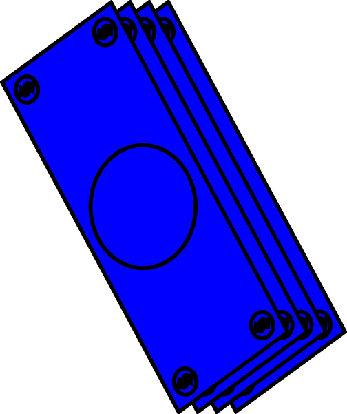 transparent Blue Bills Clip Art at Clker