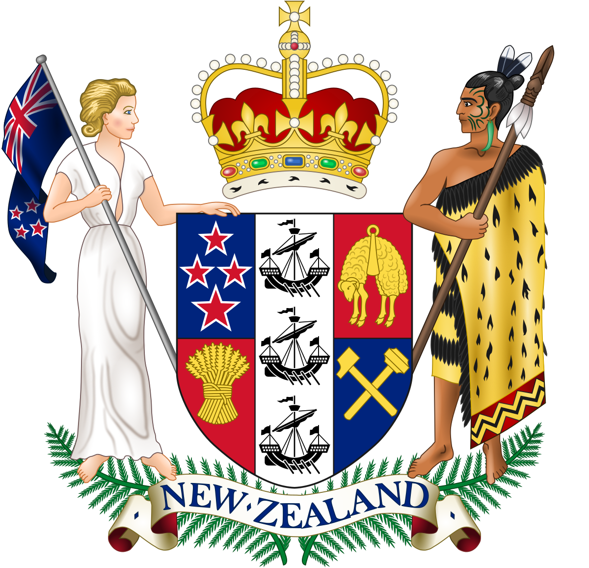 black and white stock Monarchy of New Zealand