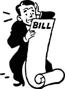 clip art library Bills clipart. Worried about a bill