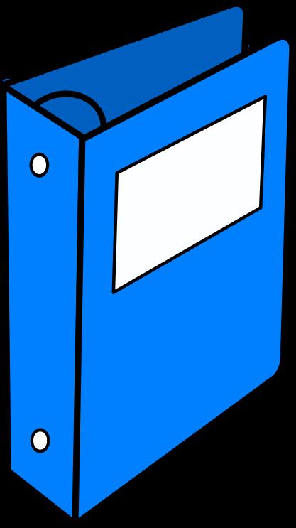image free stock Binder clipart. Blue medium image png.