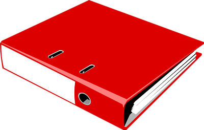 clip art black and white library Binder clipart. Red