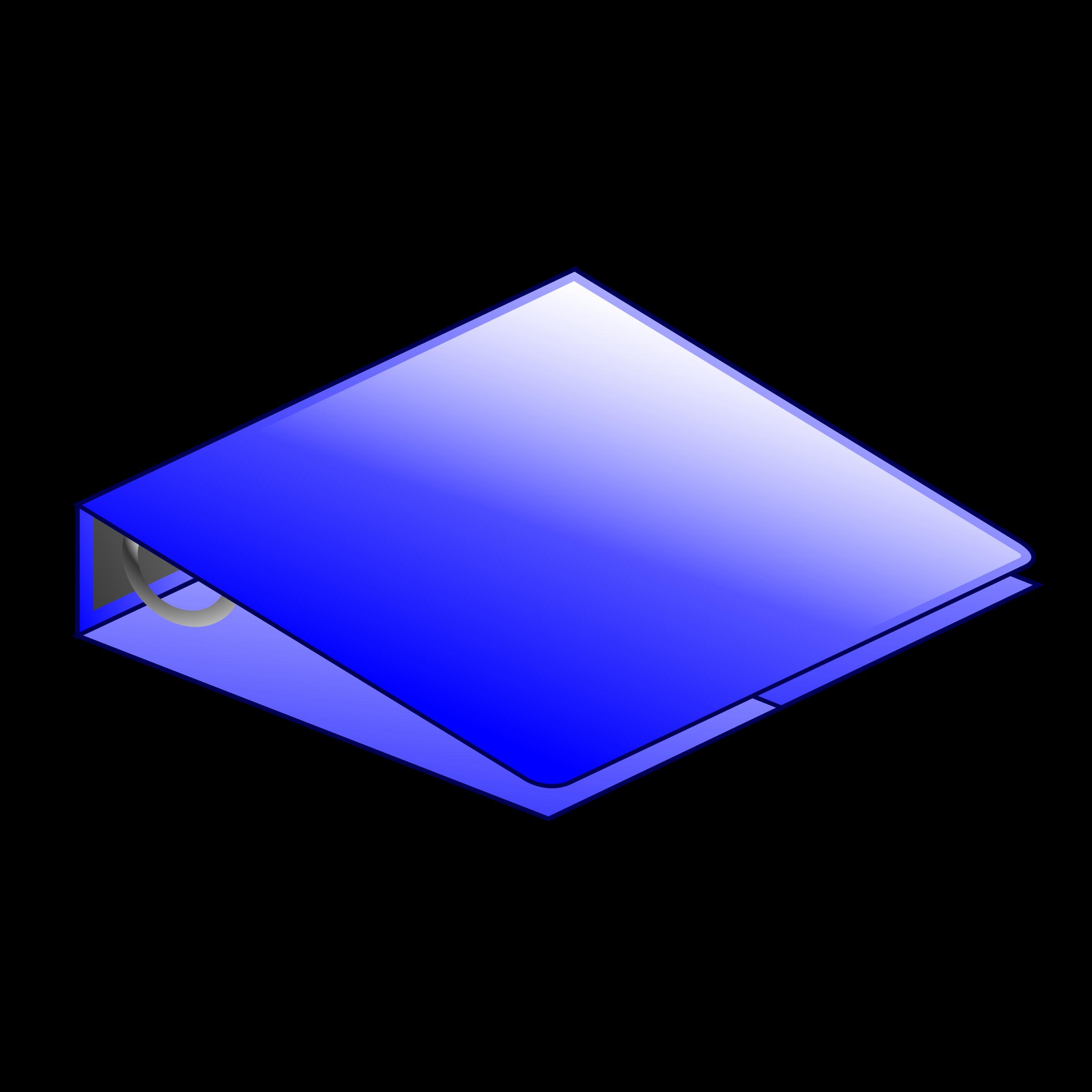 svg transparent stock Binder clipart. Blue ring big image.