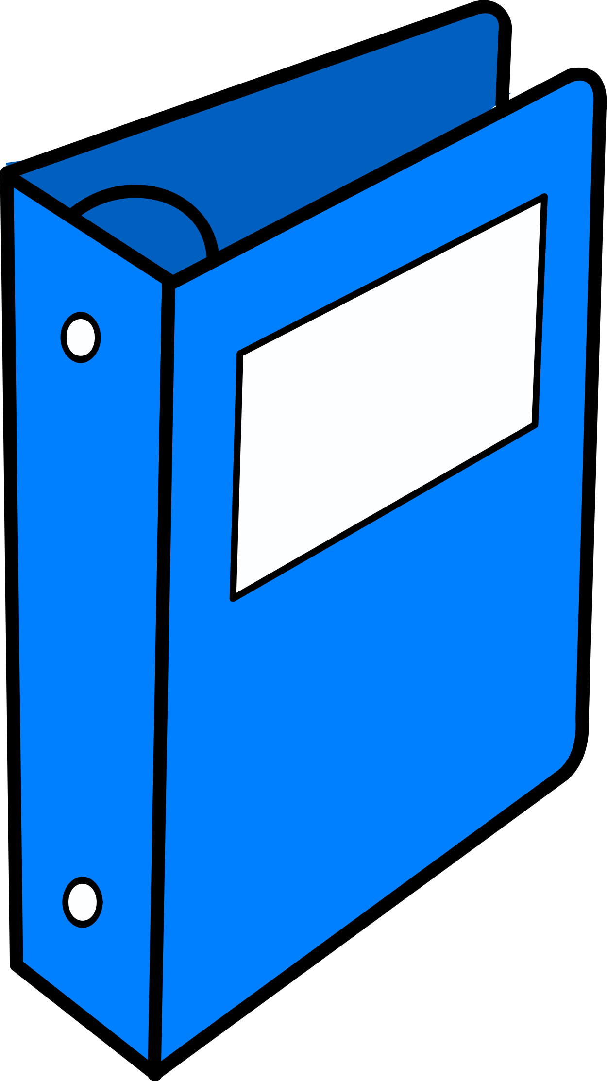 jpg free library Blue binder Icons PNG