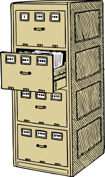 vector black and white library Office File Clipart
