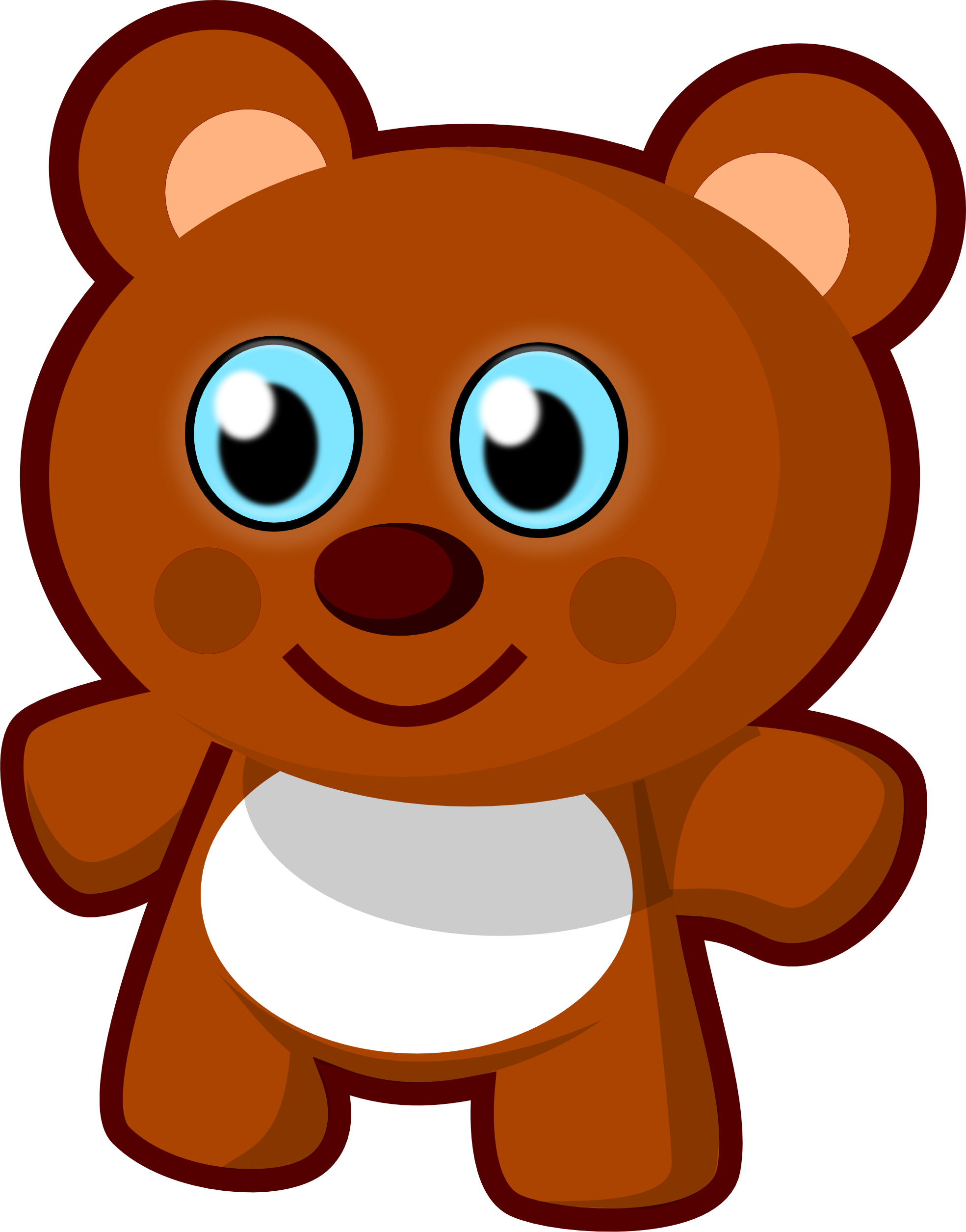 jpg freeuse library Stuffed animal clipart. Free clip art vector