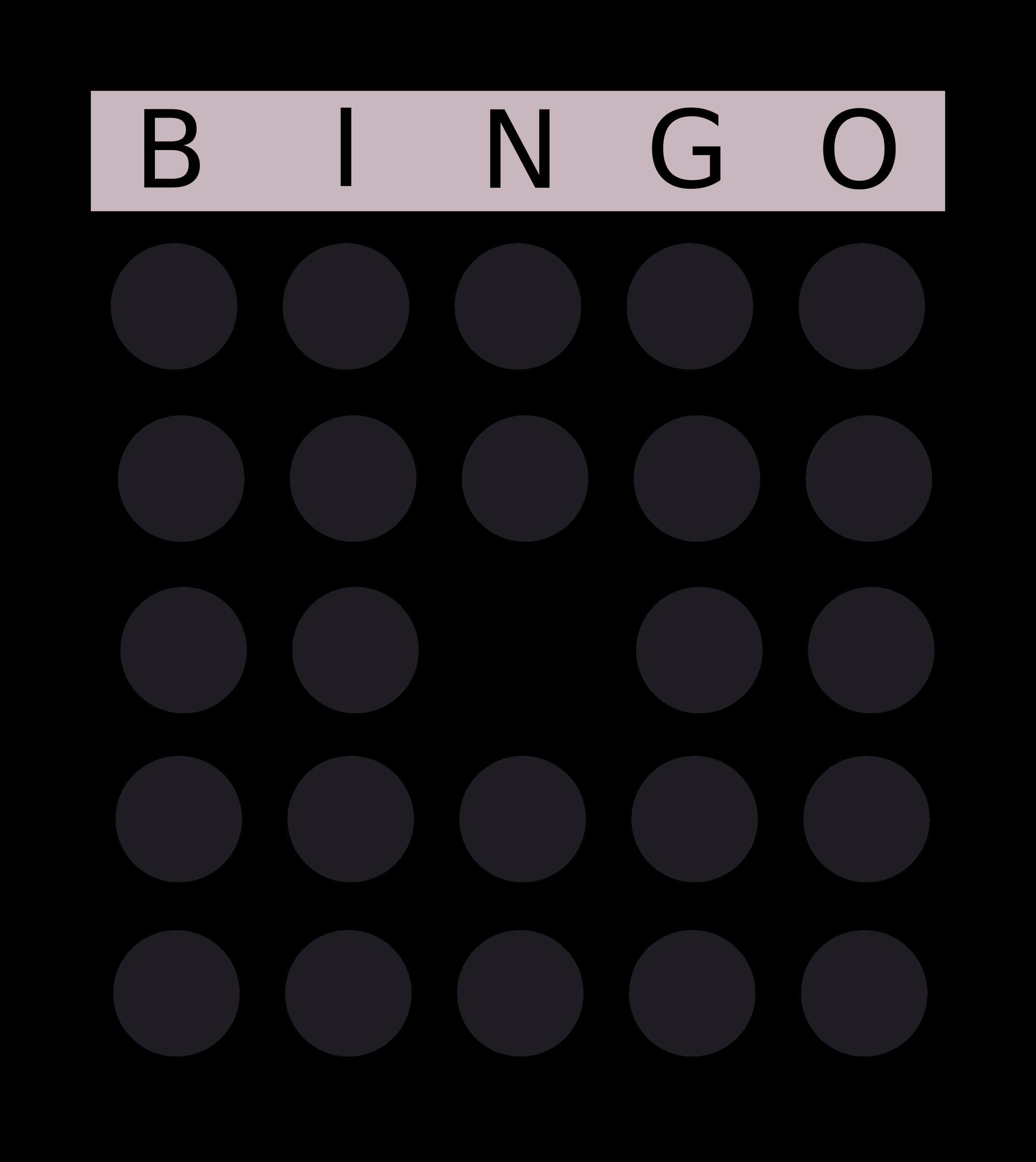 png transparent download Bingo clipart. Card big image png