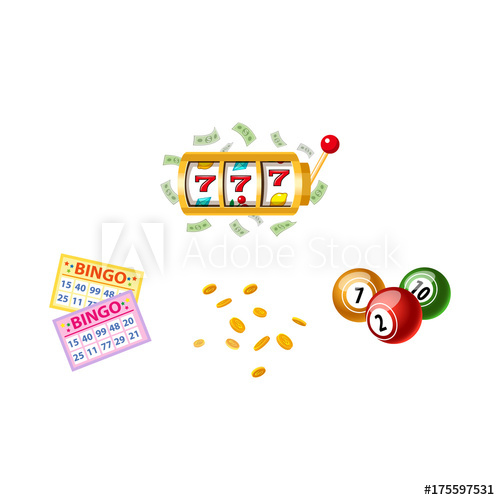 banner download Bingo vector board. Lottery symbols slot machine