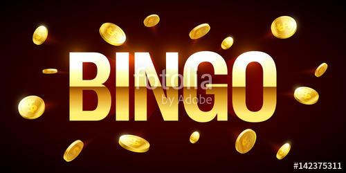 clip download Game banner with inscription. Bingo vector gold