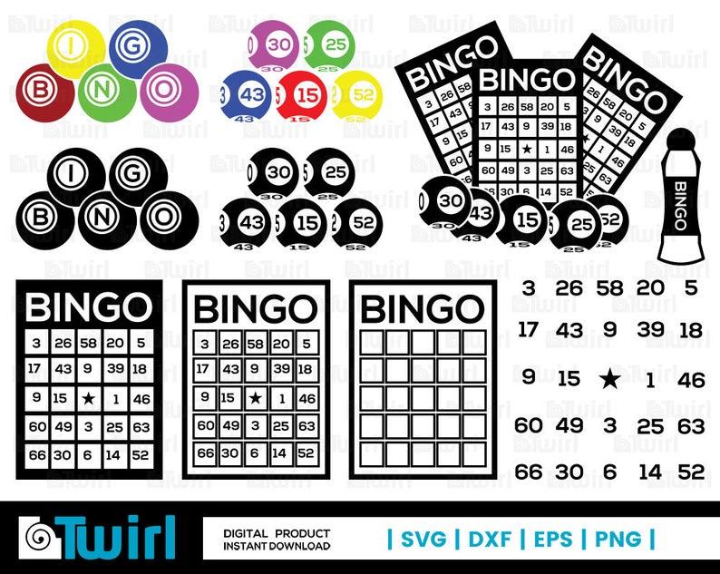 royalty free Bingo vector wheel. Svg card silhouette ball