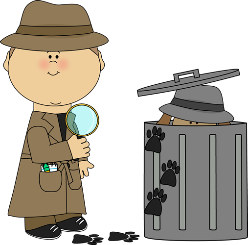 picture stock Grammar clipart detective. Find the clue looking