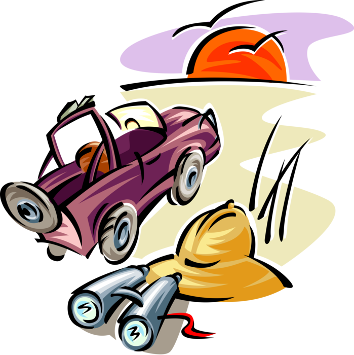 graphic free Binoculars clipart safari african. Jeep with pith helmet.