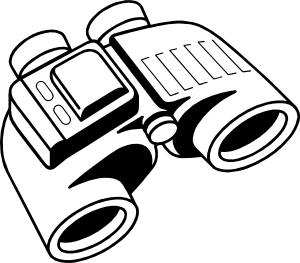 graphic black and white library Binoculars Clip Art at Clker