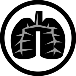 png transparent stock Black lung icon i. Biology clipart respiratory disease.