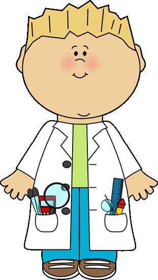 graphic free Kid speaking clipart. Boy scientist science clip