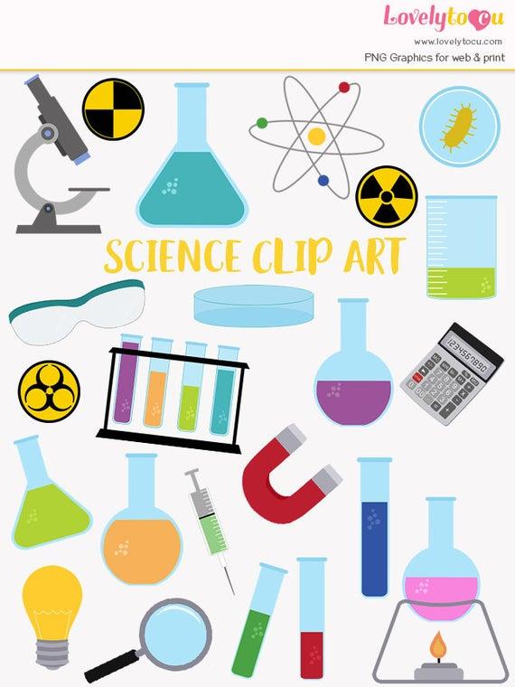 svg freeuse download Laboratory clip art set. Science lab clipart