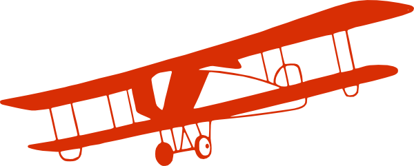 jpg free stock Red clip art at. Biplane clipart old airplane