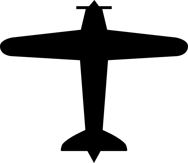 clip free Biplane clipart old airplane. Small plane silhouette at