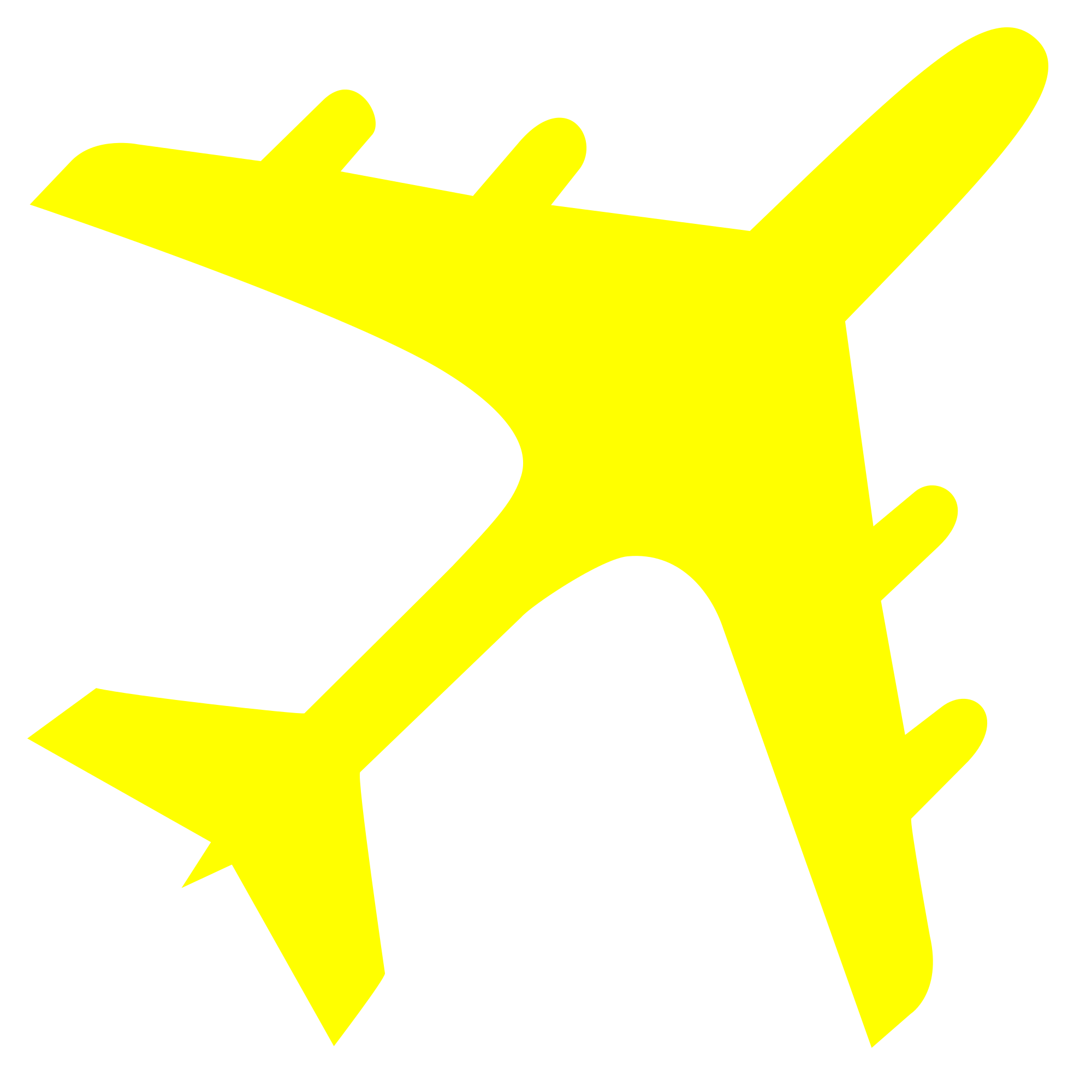 svg transparent Biplane clipart yellow. Free airplane cliparts download.